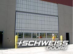 Schweiss Doors large bifold liftstrap doors
