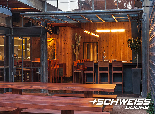 Sway Thai hydraulic Restaurant patio door