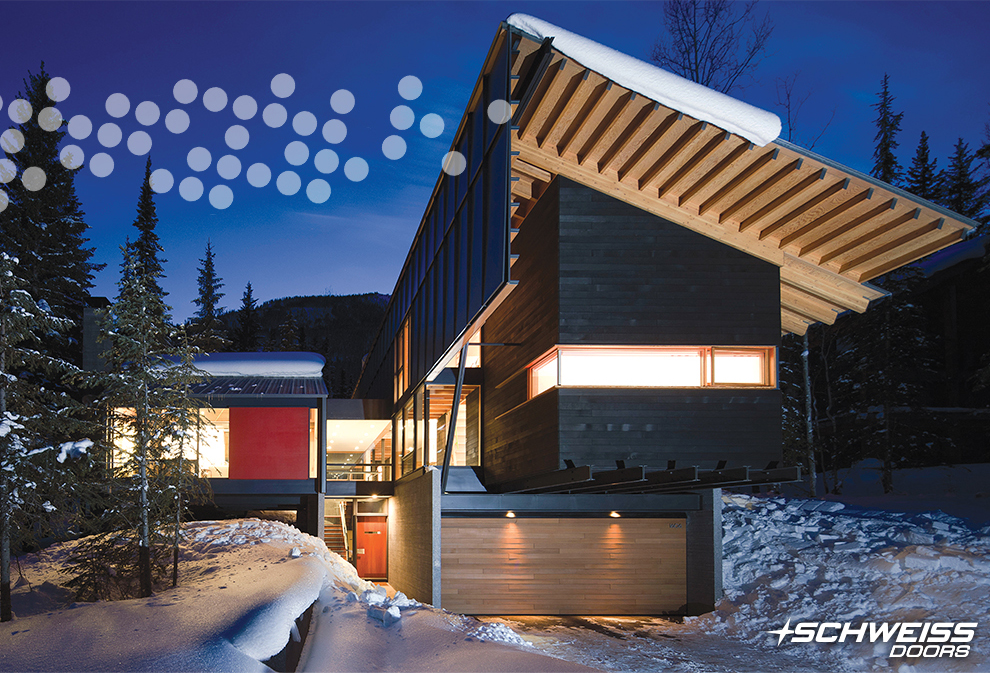 Kicking Horse Residence with Schweiss Hydraulic Door