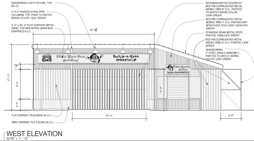 technical drawing for sf giants ballpark bifold door