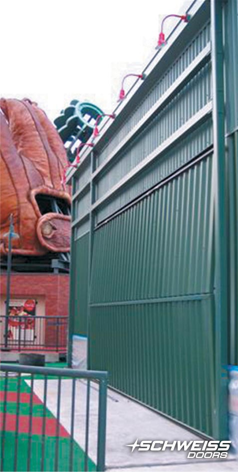 bifold gate at SF giants ballpark