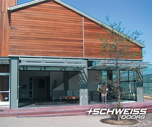 schweiss bifold door at stanfod college's ecology center