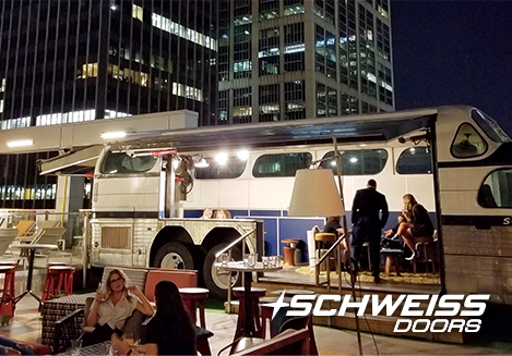 Schweiss Hydraulic Doors Dazzle in the NightLife