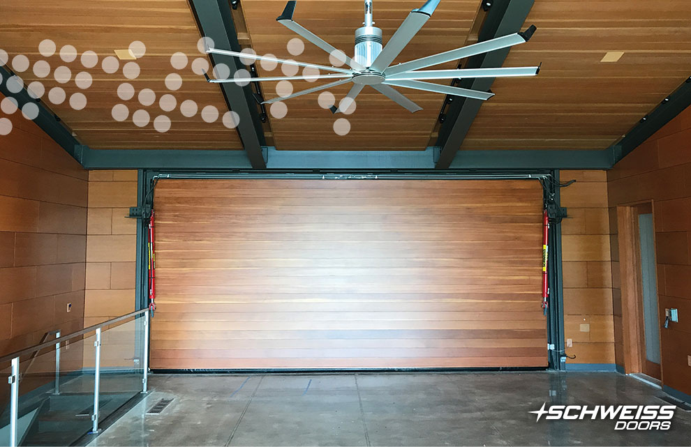 Schweiss Garage Door in Texas has class and looks to spare