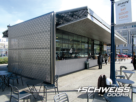 Schweiss Bifold Doors at California Coffe Stand