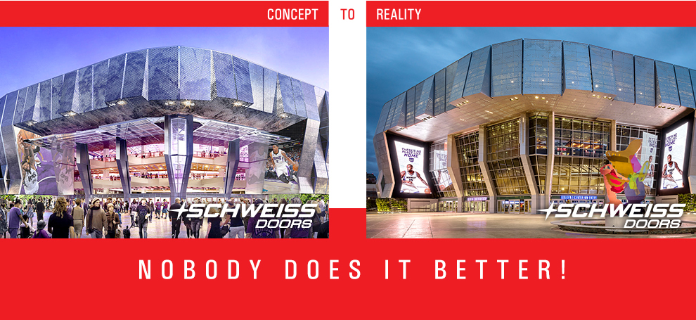 Five Stadium Doors goes from concept to reality in Sacramento, California