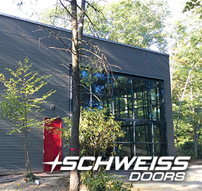Schweiss Designer Doors with Black Liftstraps