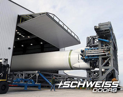 Schweiss Rocket Hangar Doors - Loading Rocket