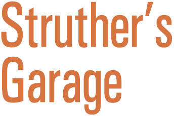 Struther's Garage title