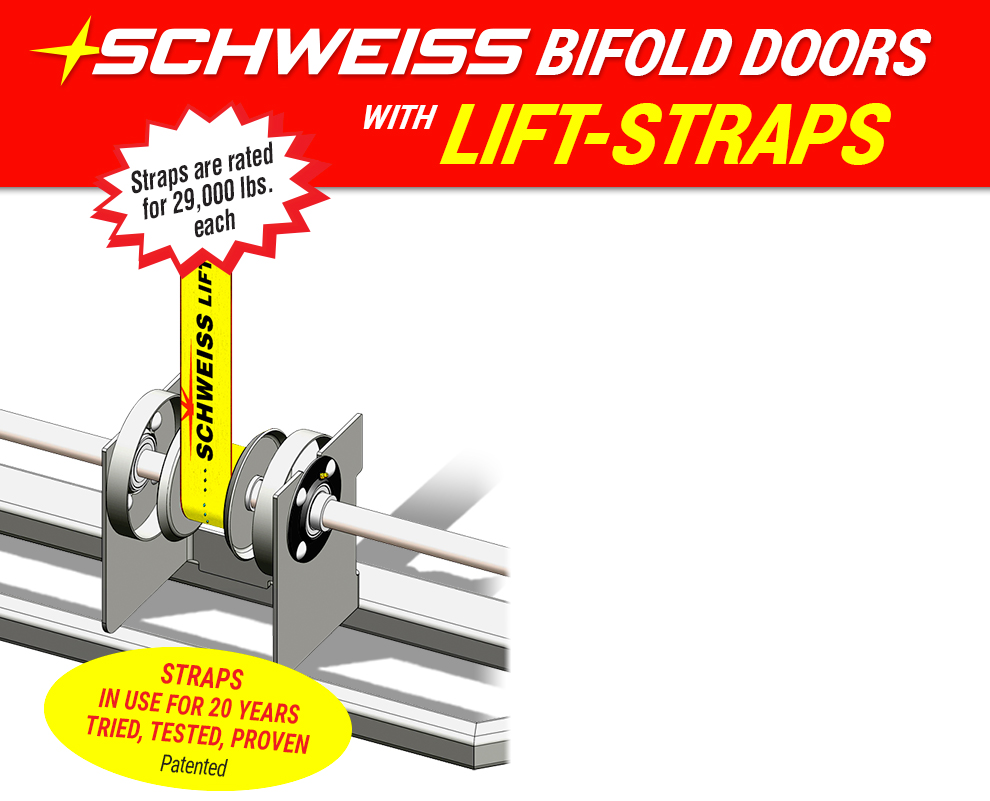 Schweiss lift-straps . . . tried, tested, proven for 20 years - Schweiss Door Sales