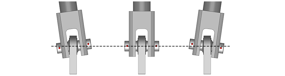Spherical Bearings allow for flexing and being straight