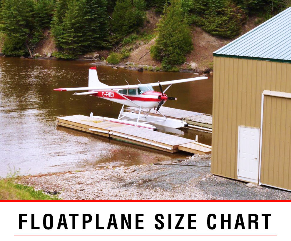 Wipline Floats installed on amphibious plane