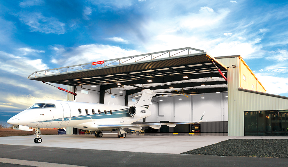 Corporate Jet Hangar with Hydraulic