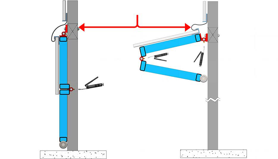 Greasable Bifold Hinge Diagram