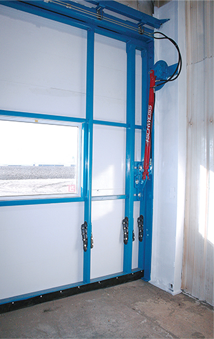 Greasable Hydraulic Door installed