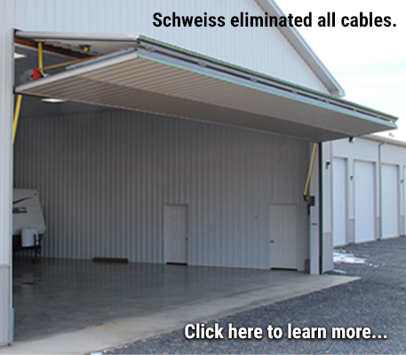 Schweiss Doors Eliminate Cables with Strap Latches