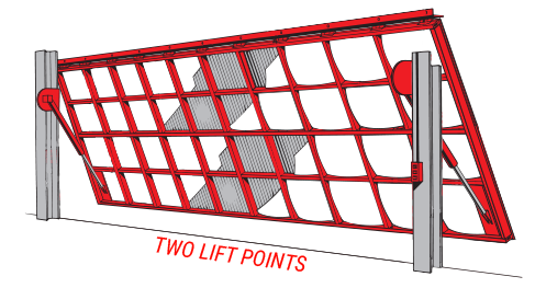Two Lift Points Hydraulic Doors