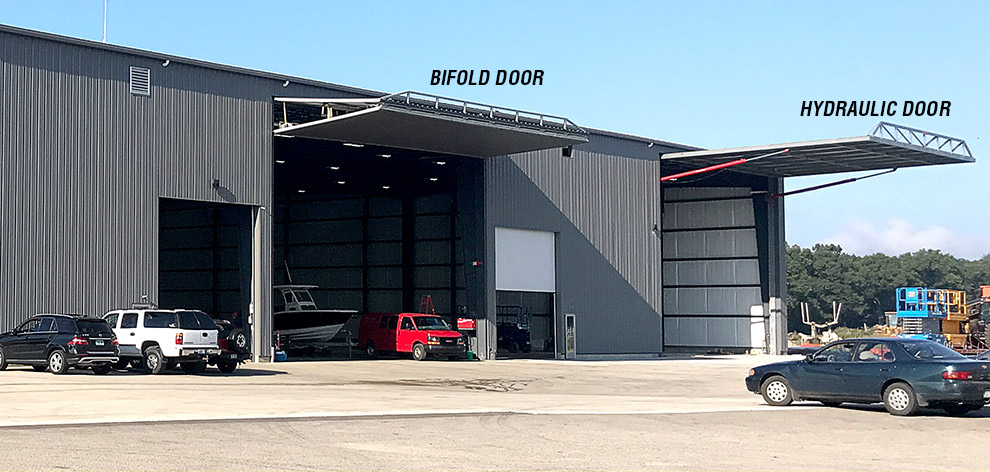 Schweiss Bifold and Hydraulic Door Comparison