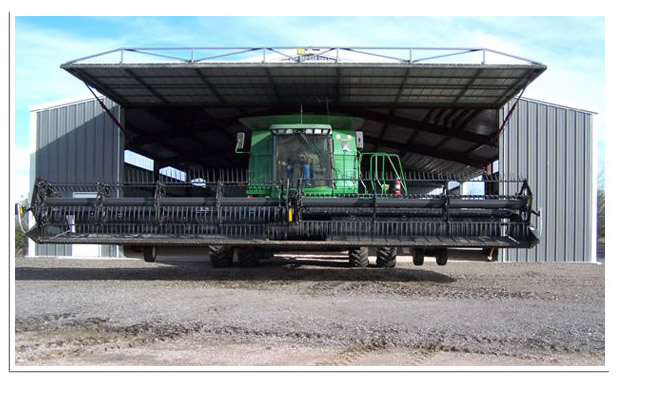 large combine exiting hydraulic door