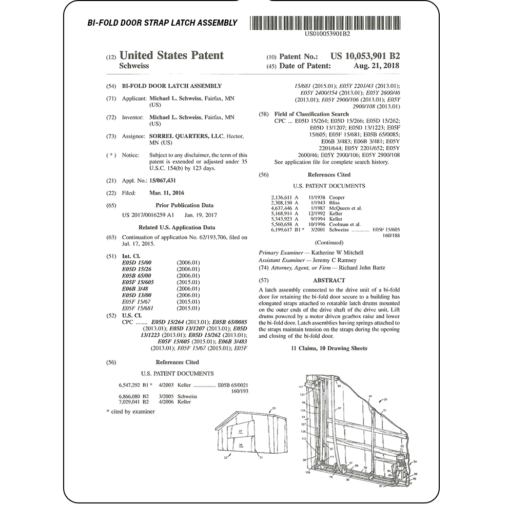 Strap Latch Assembly Patent- Drawings