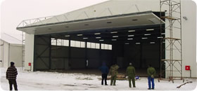Schweiss Bifolds on European Airprt Hangar