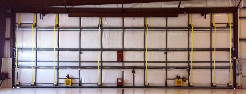 Insulated bifold liftstrap doors & Waterloo Regional Airport | Schweiss Must See Photos