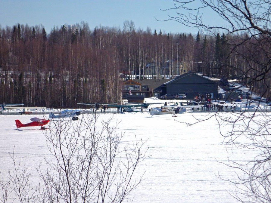 Plane enthusiasts look forward to Flysafe B&B Airventure fly-in activities that happen on the frozen lake.