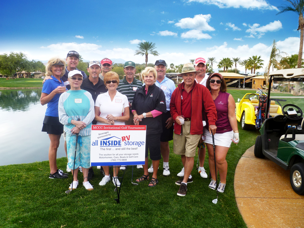 All Inside RV Storage sponsors its Motorcoach Country Club Golf Tournament