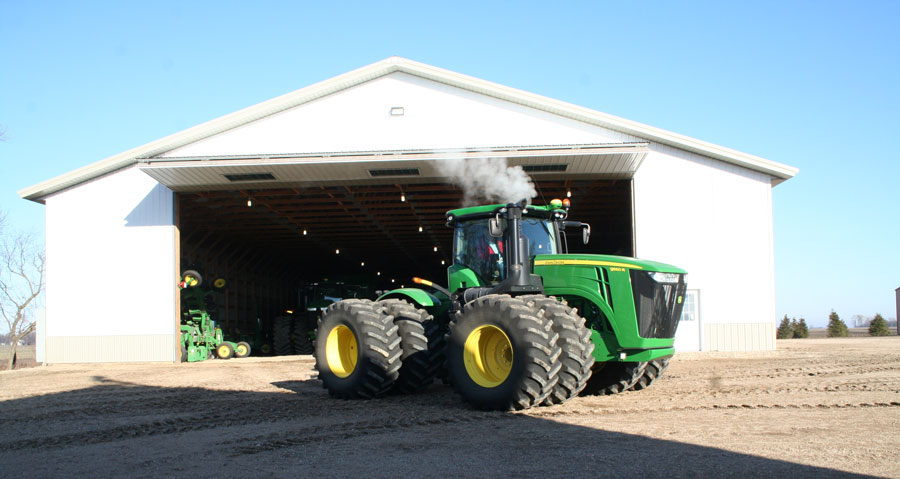 Tractor heading out to the field