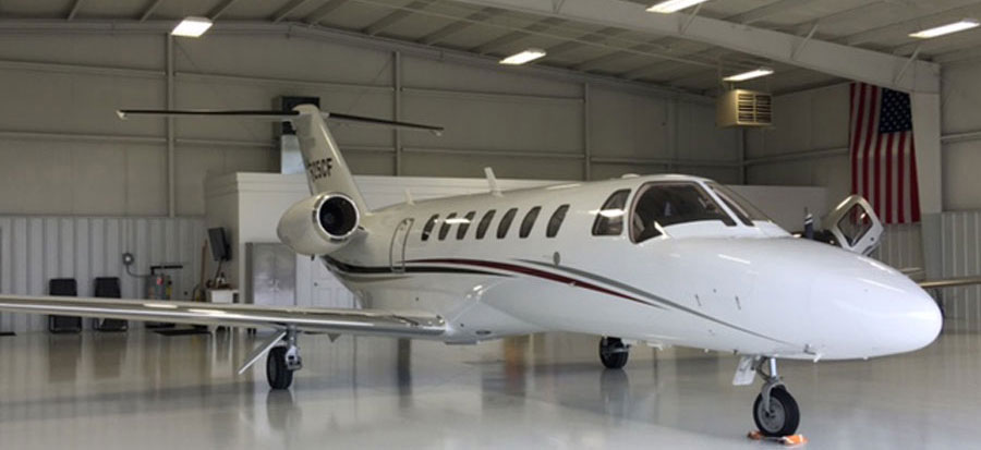 Jet in Hangar & Tennessee Jet Hangar | Schweiss Must See Photos