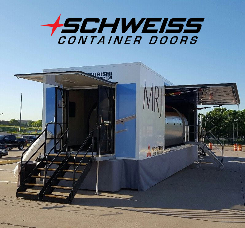 Easy access hydraulic doors