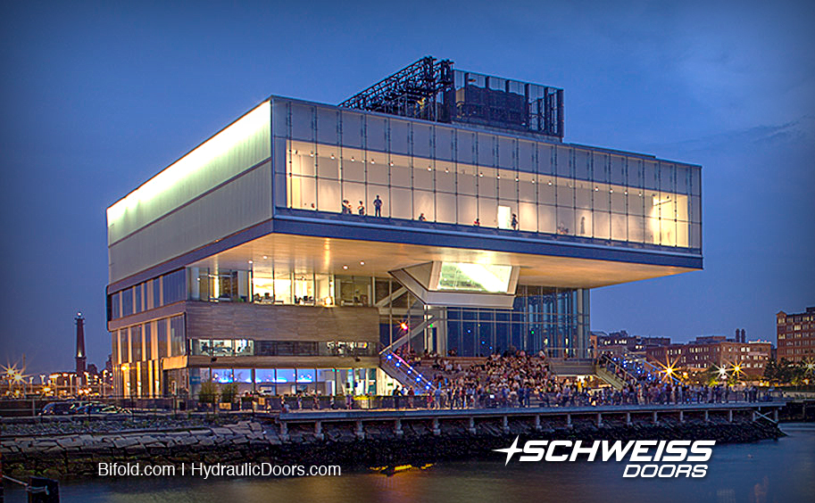 ICA's newest addition and the ICA in Boston are next to eachother alongside the Boston Harbor