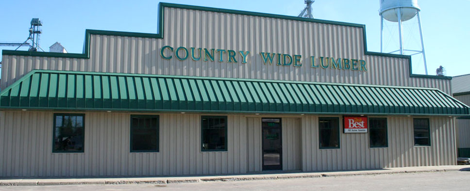 Country Wide Lumber storefront