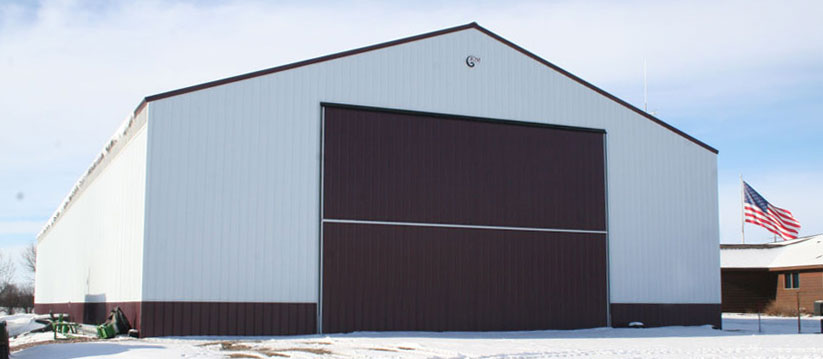 Large farm storage building