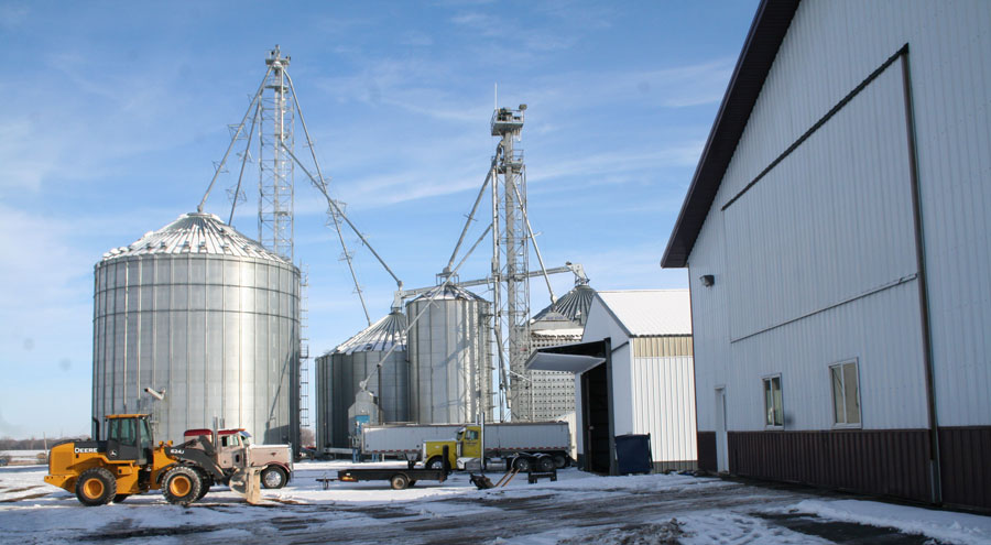 Farm equipment and grain bins