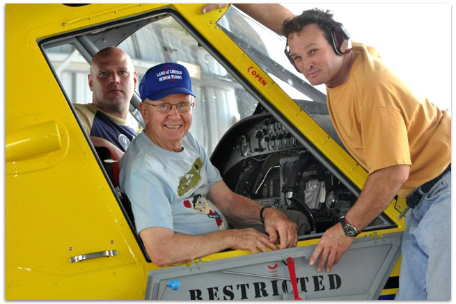 B-24 WWII pilot was honored with a ride in Air Tractor.