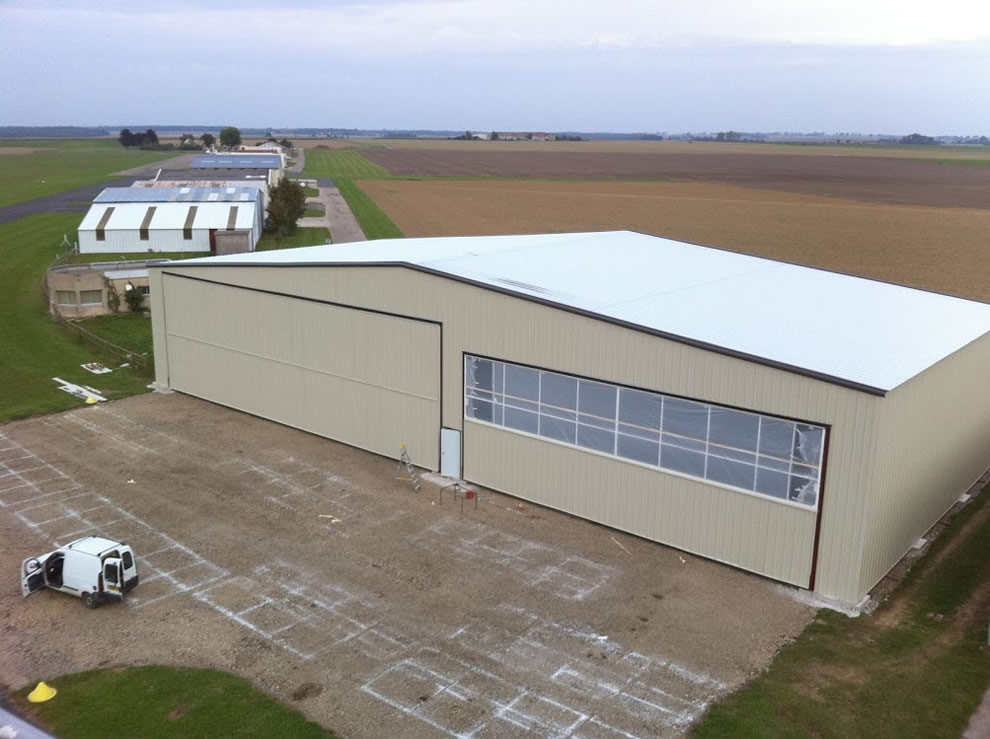 new hangar is used primarily for shop purposes