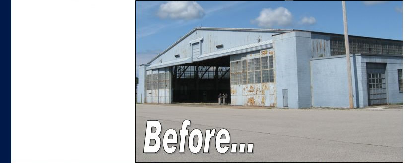 Michigan Hangar Before rehabilitation