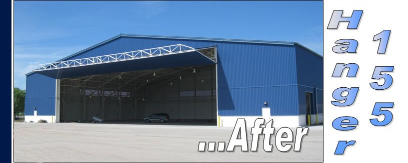 Bifold Hangar Door added to Michigan Rebuilt Hangar