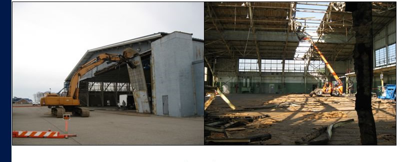 Demolition of Michigan Hangar