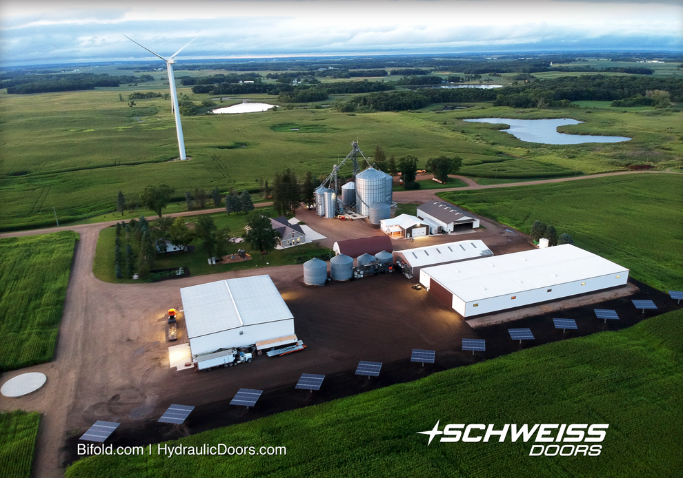 Aerial shot of Progressive Farmer's farmsite