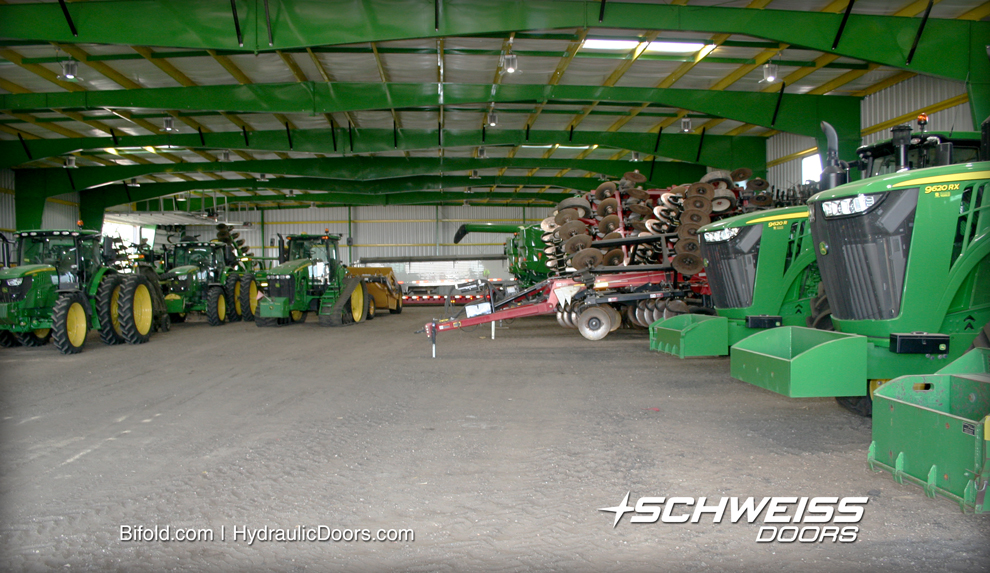 Most of Huisman's Equipment is stored in the 100' by 225' machine shed.