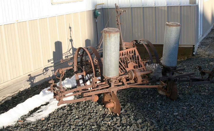 Old corn planter