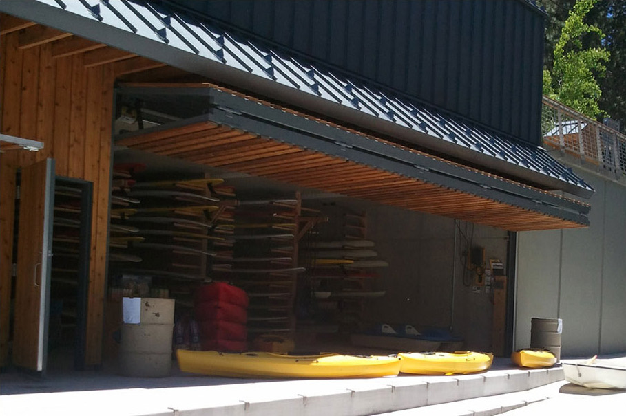 Lake Tahoe Beachfront Watercraft Rental Business Calls For Schweiss Door