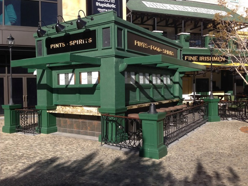Nine Fine Irishman pub sits right on the Vegas strip across from the MGM Grand