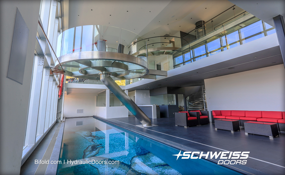 Schweiss Hydraulic Door overlooks the Bay and Silicon Valley