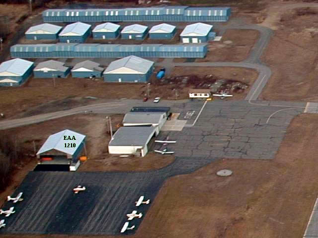 EAA hangar is one of many at Biddeford Airport