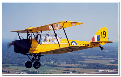 CAF and RAF trainer DH 82A Tiger Moth