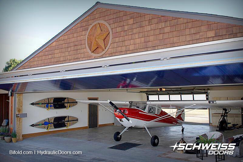 Bifold give a clean look & Polycarbonate Hangar Door | Schweiss Must See Photos