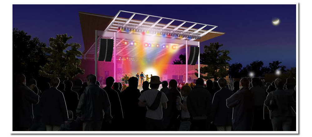 Concerts night and day bring the music to the 'Music Garden'